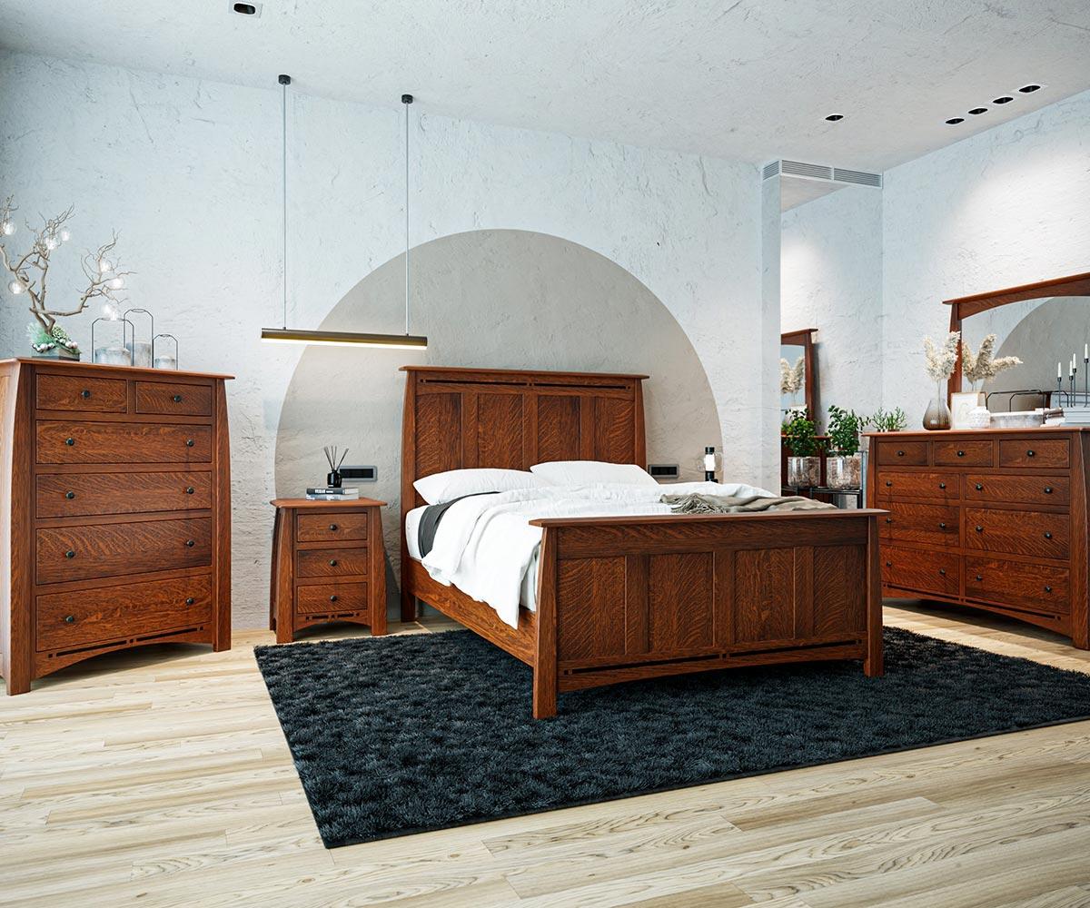 Hardwood bedroom furniture set